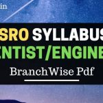 ISRO Scientist Engineers Syllabus 2019