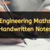 maths engineering handwritten notes